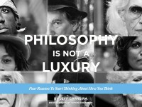Philosophy Is Not A Luxury cover design